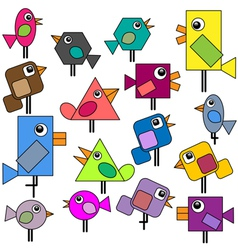 Birds set vector image vector image