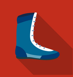 Boxing shoes icon in flate style isolated on white vector