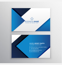 Clean minimal business card template vector