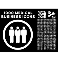 Clerk staff rounded icon with medical bonus vector