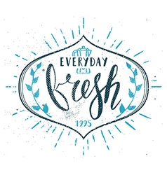 Coffee cafe fresh everyday fictitious name vector