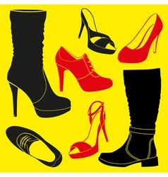 Different kinds of shoes vector image
