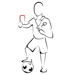 Football referee vector image