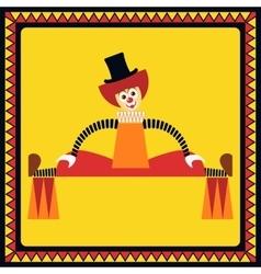 Funny clown performs big splits vector