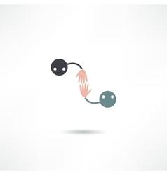 hello icon vector image