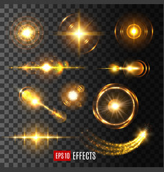 Light flash effect icon or lens flare shine vector