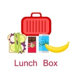 Lunch box vector