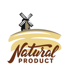 mill with wheat vector image vector image