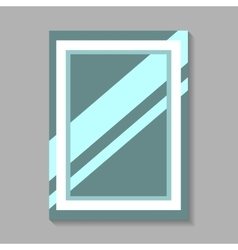 Mirror Isolated On Gray vector image