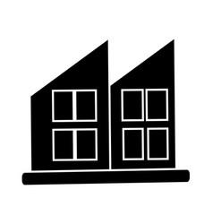 Modern house icon vector