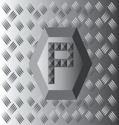 P text aluminium wallpaper vector