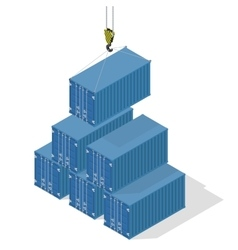 Pyramid of sea containers vector