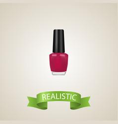 realistic nail polish element vector image