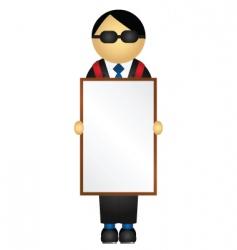 sandwich board vector image vector image
