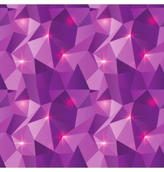 Seamless polygonal pattern purple shine background vector