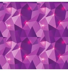 Seamless polygonal pattern purple shine background vector