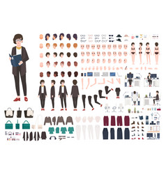 secretary woman creation set or diy kit vector image