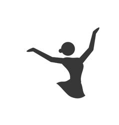 Skating silhouette person winter icon vector