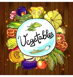 sketch different vegetables vector image