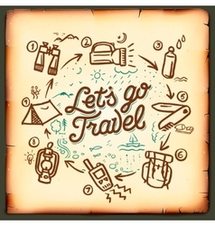 Travel blog adventure blogging online vector image