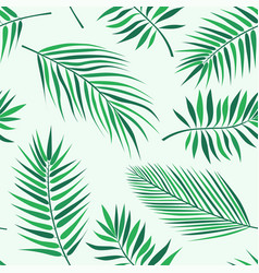 Tropical palm leaves pattern - seamless modern vector