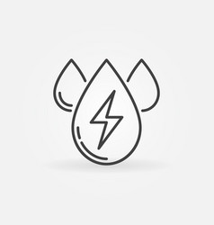 Water energy outline icon vector