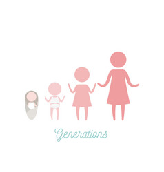 white background with pink color silhouette vector image