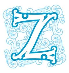 Winter vintage letter z vector