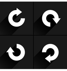 White arrow icon rotation repeat reload sign vector