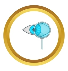 Eye exam and magnifying glass icon vector
