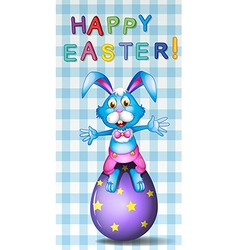 A happy easter card vector