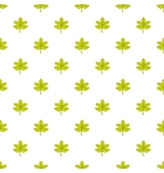 Green maple leaf pattern cartoon style vector