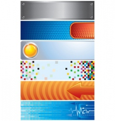 Techno banners vector