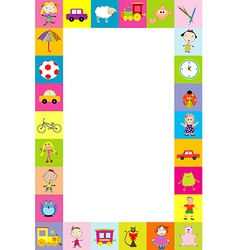 Frame with toys for kids vector image