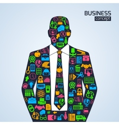 Business concept icons person vector