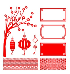 Happy chinese new year 2015 decoration element for vector