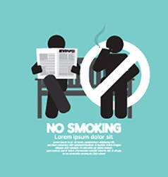 No smoking sign at public place vector