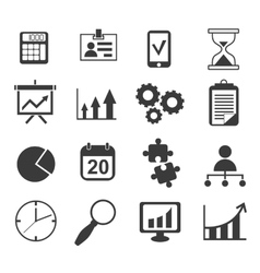 Business analyst marketing icon set vector