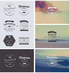 6 Hand Drawn Style Logos vector image vector image