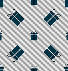 Gift box sign icon present symbol seamless pattern vector