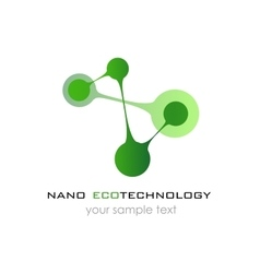 Nano logo - nanotechnology Template design of vector image