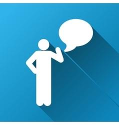 Person idea gradient square icon vector