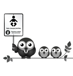 Baby Changing Facilities vector image