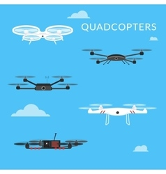 Promotion and advertisement by quadcopters vector