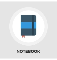Paper notebook icon flat vector