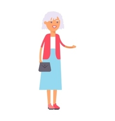 Granny portrait vector