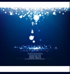 Abstract illuminated precious underwater vector