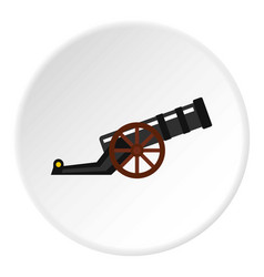 Ancient cannon icon circle vector