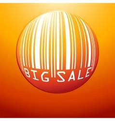 Big Sale bar code vector image vector image