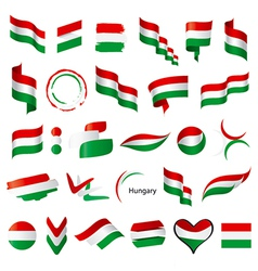 biggest collection of flags of Hungary vector image vector image